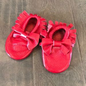 Other - Red leather baby moccasins